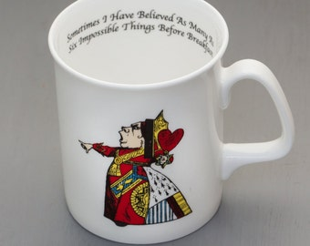 Alice In Wonderland Queen of Hearts Bone China Mug