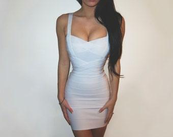 White Bodycon Bandage Dress