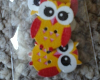 yellow owl buttons