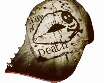 Kiss Of Death Distressed Baseball Cap