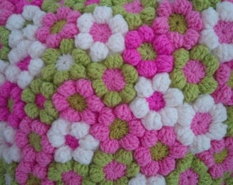 20 Crochet Colourful Flowers - Design your own Cushion