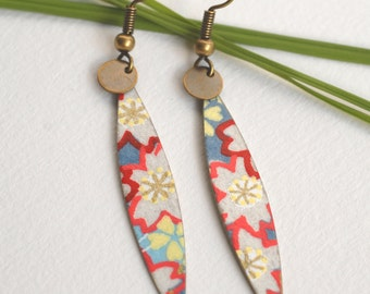 Earrings multicolor Japanese shuttle