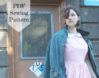 Eleven Dress PDF Sewing Pattern - Stranger Things, Halloween Costume, Cosplay, Peter Pan Collar