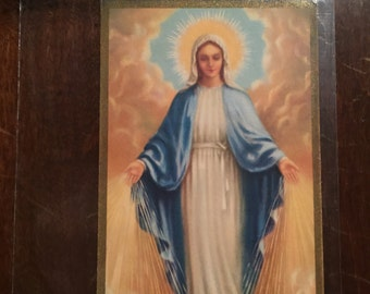 1943 Lithograph Convent of the Sacred Heart, Illinois - Mater Gratiae - Mother's Day Program
