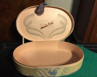 1938 - 1939 Bourjois Mais Oui! Oval Perfume Gift Box