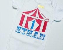 Circus birthday onesie. Carnival birthday onesie . Circus tent onesie. Dumbo onesie. Dumbo party. Circus onesie