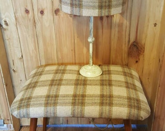 Tartan lampshades, 100% wool made to order