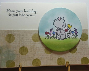 Sweet kitty cat birthday card