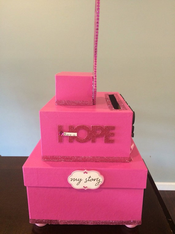 breast cancer fundraiser donation box