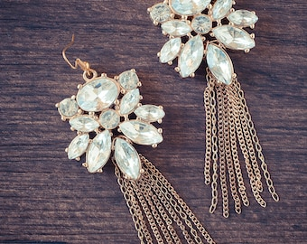 Sparkling Champagne Luxe Earrings