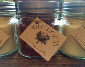 EcoSoya candles, hemp wick & pure essential oils
