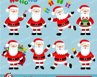 Around the World Santa Claus Clip Art