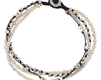 Ankle Bracelet- Alloy Four Strand Ankle Bracelet