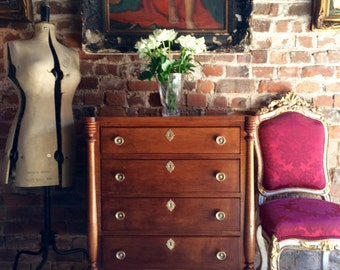 Beautiful Antique Style Satinwood Chest Of Drawers Dresser