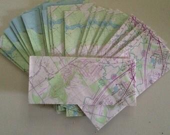 Map Envelopes - Set of 25 - Cartography - Standard #10 Envelopes