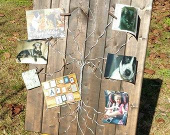 Wire Photo Tree