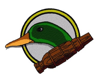Duck and Call Embroidery Design