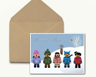 Gloria Seasonal Note Cards - Boxed Set of 10 With Envelopes