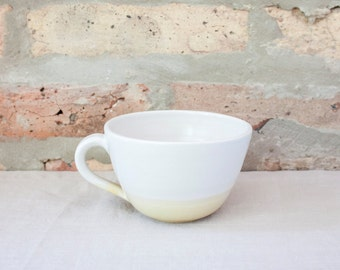 Yellow Cafe Coffee Cup by Barombi Studios