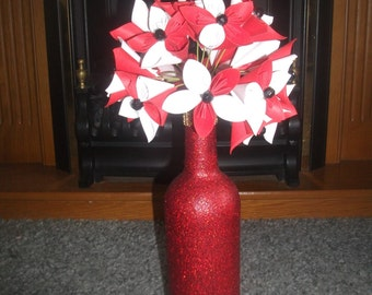 bottle vase with 20 flowers