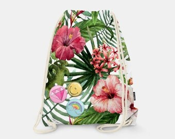 Bag-backpack Exotic Flowers