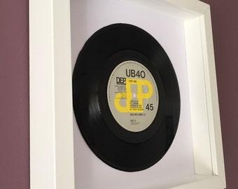 """UB40 """"Red Red Wine"""" - Framed Original Vinyl Record"""