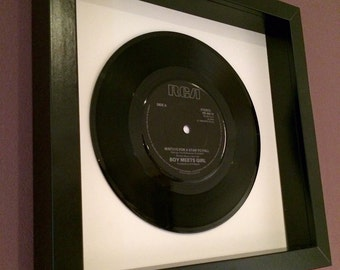 """Boy Meets Girl """"Waiting For A Star To Fall"""" - Framed Vinyl Gift"""
