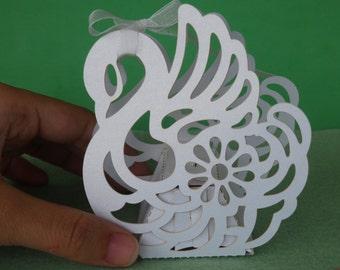 50 wedding favour boxes wedding boxes swan decoration