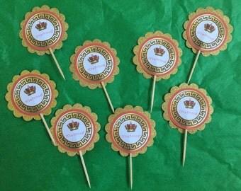 Royal Prince Cupcake Toppers