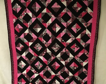 Pink glittery quilt
