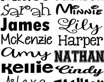 Name Decal, Vinyl Decal, Name, Word Decal, Vinyl Name Decal