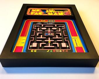 "Ms. Pac-Man 3D Shadow Box 8""x10"""