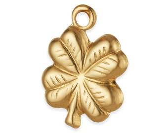 1 Pc 14K Gold Filled Clover Charm 9.7x14 mm (GFP714)