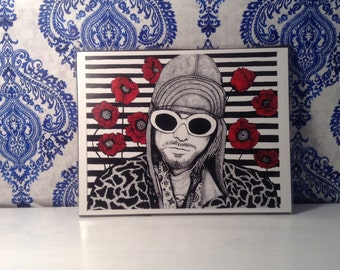 Kurt Cobaine 8.5 x 11in Print