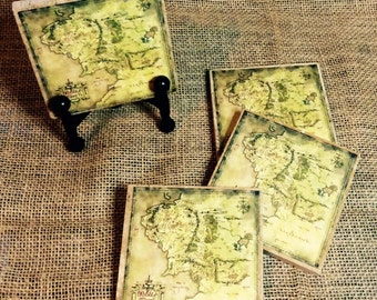 Lord Of The Rings 4 Piece Coaster Set