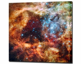 30 Doradus Cluster Hubble  Canvas Print Framed Ready To Hang Wall Art