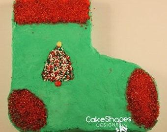 Christmas Stocking Cut-Up Cake Pattern