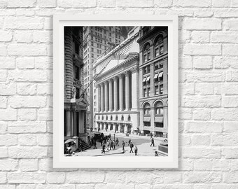 New York Stock Exchange - Wall Street - NYSE Photograph - New York City - Old NY - NYC - Vintage New York Photograph - J P Morgan - Finance