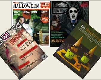 4 Miniature   'HALLOWEEN'   Magazines  -  Dollhouse 1:6th  1/12th   1/24th   1/48th   scale IGMA