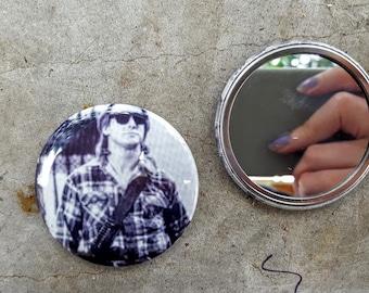 They Live John Carpenter Rowdy Roddy Piper 80s Movie 2.25 inch 58MM purse pocket hand button mirror
