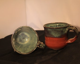 hand thrown pottery cup