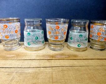 Set of 5 Vintage Shot Glasses 1950s