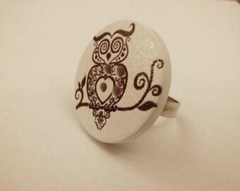 Great white OWL ring