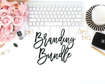 Social Media Graphic Bundle / Chanel Styled Stock Photography / Set of Five Styled Stock Photos / Website and Store Banners