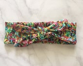 Sprinkles On Top Wide Knot Headband   Knit    Tie   Retro   Vintage   One Size Fits All
