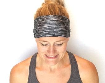 Yoga Headband - Running Headband - Workout Headband - Fitness Headband - London Fog