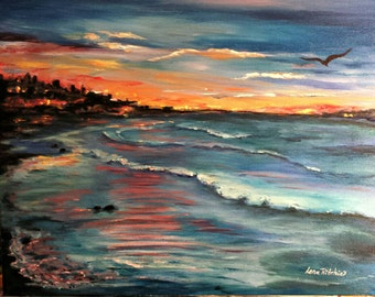 Celebrating the Sun - 16x20 Acrylic painting on stretched canvas