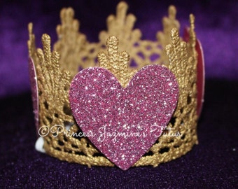 Valentines lace crown