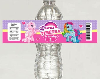 My little pony Water bottle labels Birthday Party - Printable