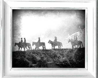 Ranch,#Cowboy,#Western,#Southwestern,#Snow,#RanchHands,#Farm,#Horses,#Country,#Rustler,#Cattle,#BlackandWhite,#Grey,#vintage,#Art,#HomeDecor
